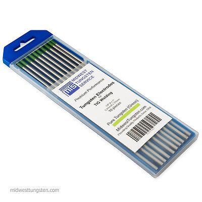 Tig Welding Tungsten Rod Electrodes Pure Tungsten 18 X 7 Green Wp 10pk