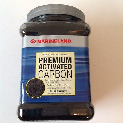 Marineland Premium Activated Black Diamond Filter Carbon 22 oz 624 grams Black Diamond Activated Carbon