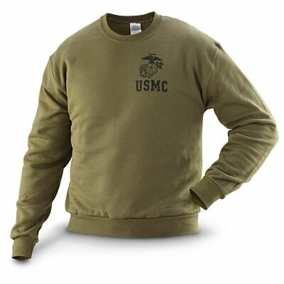Genuine US Marine Corp Issue Men's PT Christmas USMC Sweater, OD