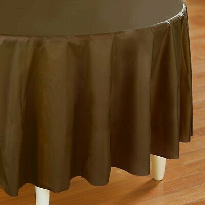 Brown Plastic Tablecloth (Brown Plastic Table Cover -)