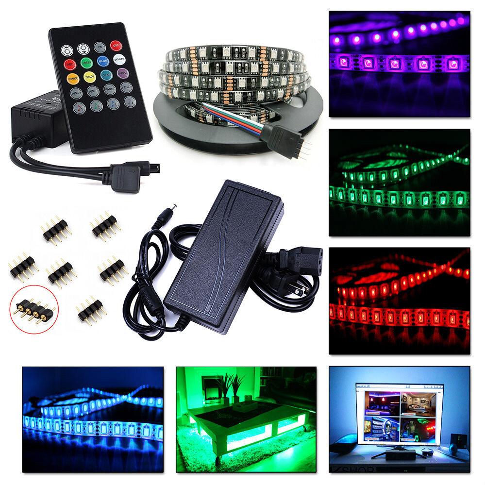 5M/10M 5050 LED RGB STRIP SOUND MUSIC SET PUB NIGHTCLUB BAR