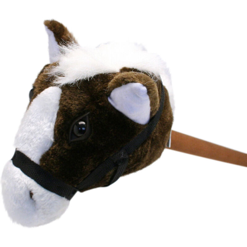 Plush Stick Horse 30in Brown