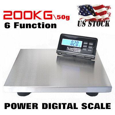 New 440lbs Lcd Ac Digital Floor Bench Scale Postal Platform Shippingpet 200kg