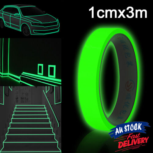 Home Decoration - 3M*10mm Luminous Tape Safety In Decorations Glow Self-adhesive Home The Dark