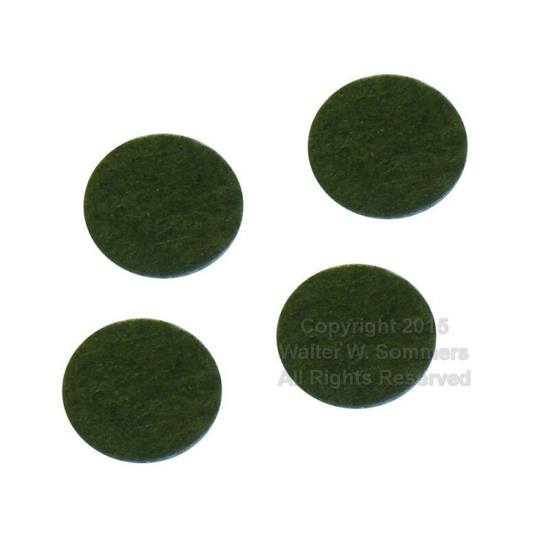 Victor Victrola Phonograph Cabinet Light Green Felt Bumper Pads for Lid Set of 4