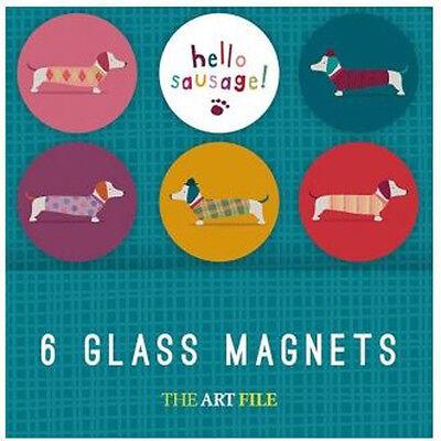 Artfile Frank Sausage Dog Fridge Magnets - Token gifts idea - Rounded Magnets