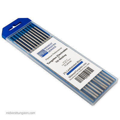 Tig Welding Tungsten Rod Electrodes 2 Lanthanated 18 X 7 Blue Wl20 10pk