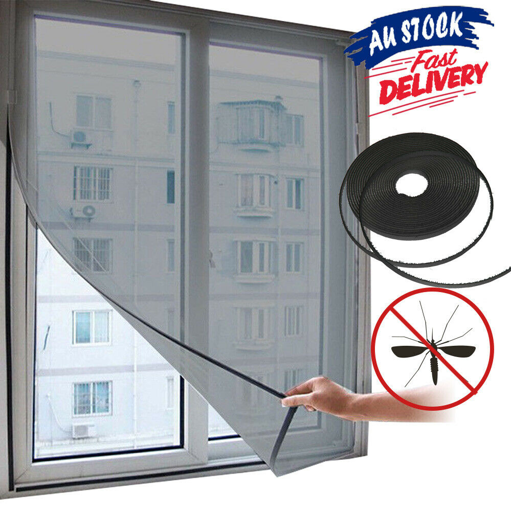 Window Insect Screen Snap Fly Bug Insect Mosquito Curtain Netting Mesh Net Cover
