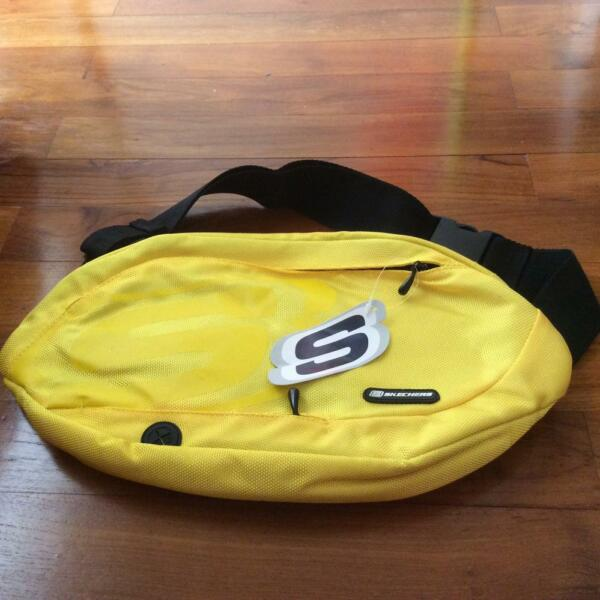 Brand New Skechers Waterproof Yellow West Pouch Or Sling Bag