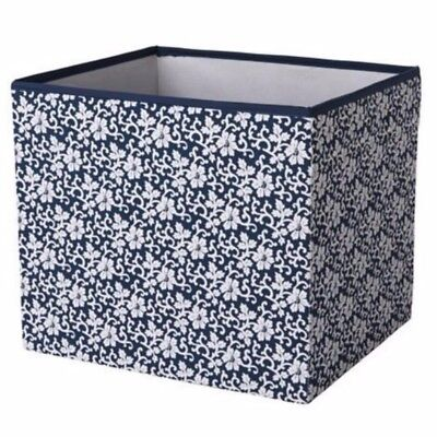 Ikea Gopan Storage box for Molger unit mini drona BLUE & WHITE floral Mini Storage Unit