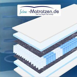 20cm hohe Tonnentaschenfederkern Matratze, 7-Zonen, 90x200cm H2, Bezug waschbar