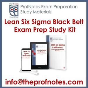 LSS Lean Six Sigma Black Belt Certification, ASQ Exam Prep, Textbook, Practice Questions
