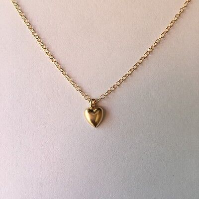 Gold Heart Necklace/Choker Small, Tiny, Petite, ALL 14K Gold-filled  (14k Gold Petite Heart)