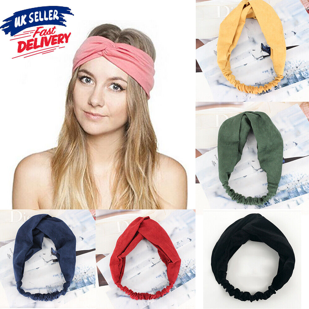 Suede Twisted Headband Hair Accessory Different Colors