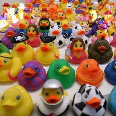 100ct Bulk Rubber Duck Assortment - Rubber Duck Party Supplies