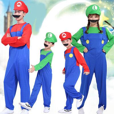 Super Mario Costumes Adult Hat Mens Kids Fancy - Super Mario Hats