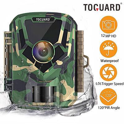 Wildgame TOGUARD Mini Trail Camera 12MP 1080P Hunting Deer PIR Night Vision 120°