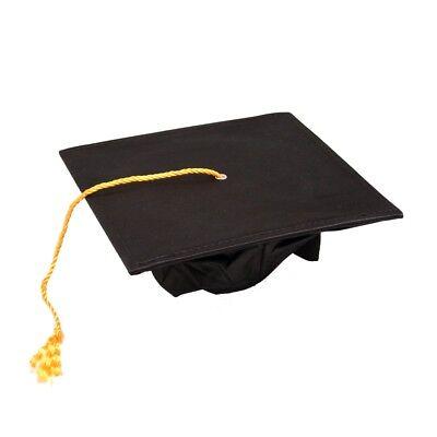 Deluxe Black Graduation Cap - Black Graduation Cap