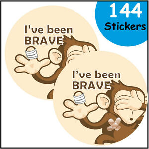 Bravery Reward Stickers, I've been brave, for doctors nurses and dentists