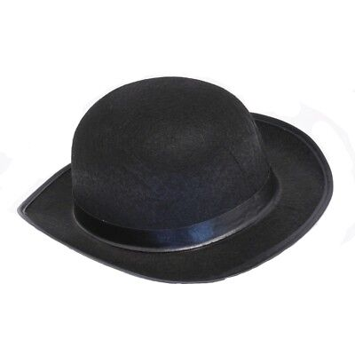 Black Felt Derby Hat - Black Felt Derby Hat