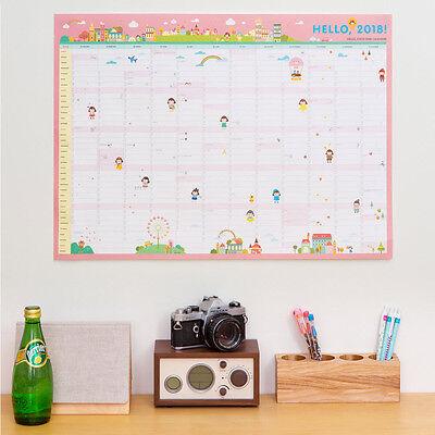 """2018 Ardium CoCo 365 Days 23""""x17"""" Wall Paper Calendar Cute Scheduler Memo Note"""