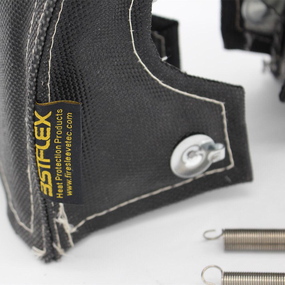 BLACK Turbo Heat Shield Blanket Fiber Cover for GT25 GT28 TD04 TD05 16G 18G T3