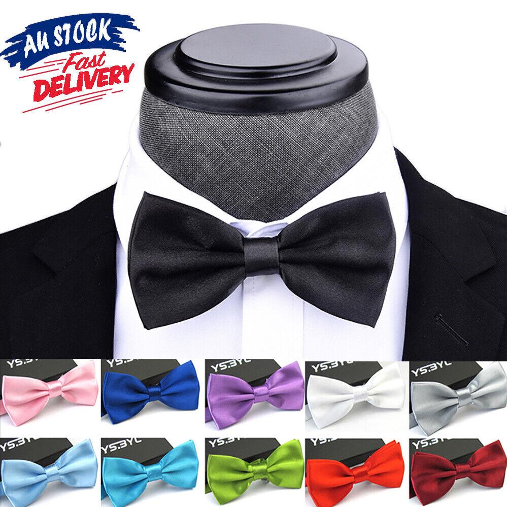 Kids Bow Tie Bowtie Black Baby Wedding Tuxedo Formal Party Pretied Necktie Boy