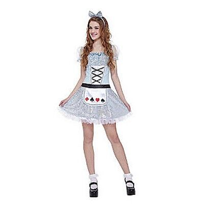 NWT TOTALLY GHOUL MISS ALICE IN WONDERLAND TEEN YOUNG WOMAN HALLOWEEN COSTUME - Miss Wonderland Halloween Costume