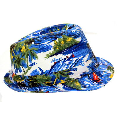Tropical Design Fedora Hat - Tropical Hat