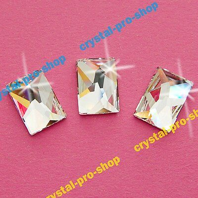 Genuine Swarovski 2520 Cosmic Rectangle ( No Hotfix ) Flatback Rhinestones Beads Cosmic Flat Back Rhinestones
