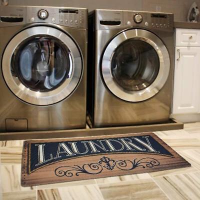 USTIDE Wood Print Floor Rug for Laundry Room Cheap Washhouse Mat Waterproof... ()