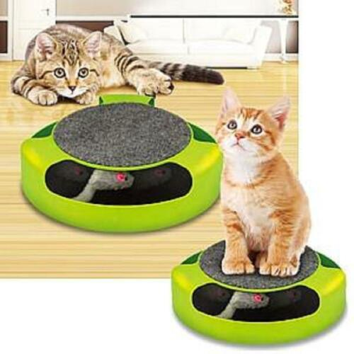Mouse Catch Cat Toy Groomer Scratch Pad Pet Fun Kitten Interactive Playtime