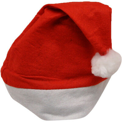 150 bulk lot Red White Christmas Holiday Felt Santa Hat Adult Costume - Bulk Christmas Hats