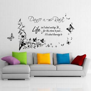 Dettagli su Adesivi Murali Wall Stickers Farfalle Danzanti Sotto La ...