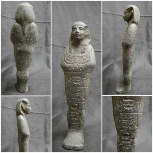 Ancient Egyptian Antiques Granite Carved Stone ISIS Ushabti Statue 2685-2180 BC