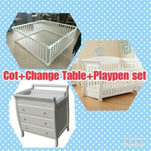 Brand New 2 in 1 Pine wood Playpen and Baby Cot Set from $120 Clayton Monash Area Preview