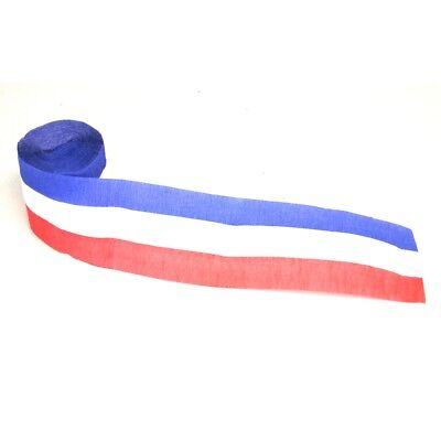 Red White And Blue Crepe Streamer - 30'