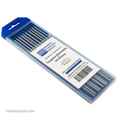Tig Welding Tungsten Rod Electrodes 2 Lanthanated 332 X 7 Blue Wl20 10pk