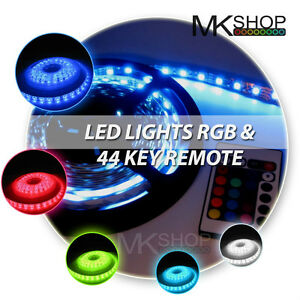 2M 5050 IP65 RGB LED STRIP LIGHTING IDEAS TV BACK LIGHTS COLOUR CHANGING RIBB