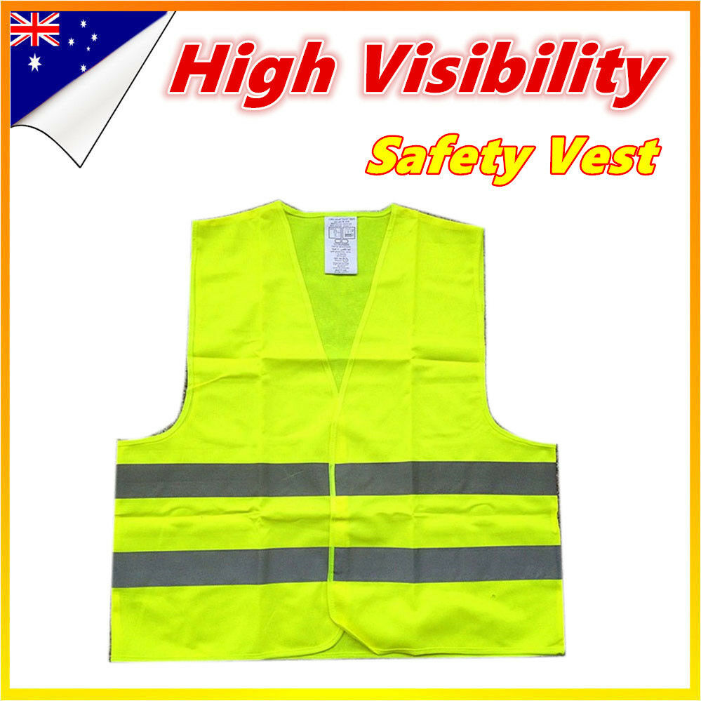 10X Hi Vis Yellow Safety Vest Reflective double Tape Work Jacket High Visibility