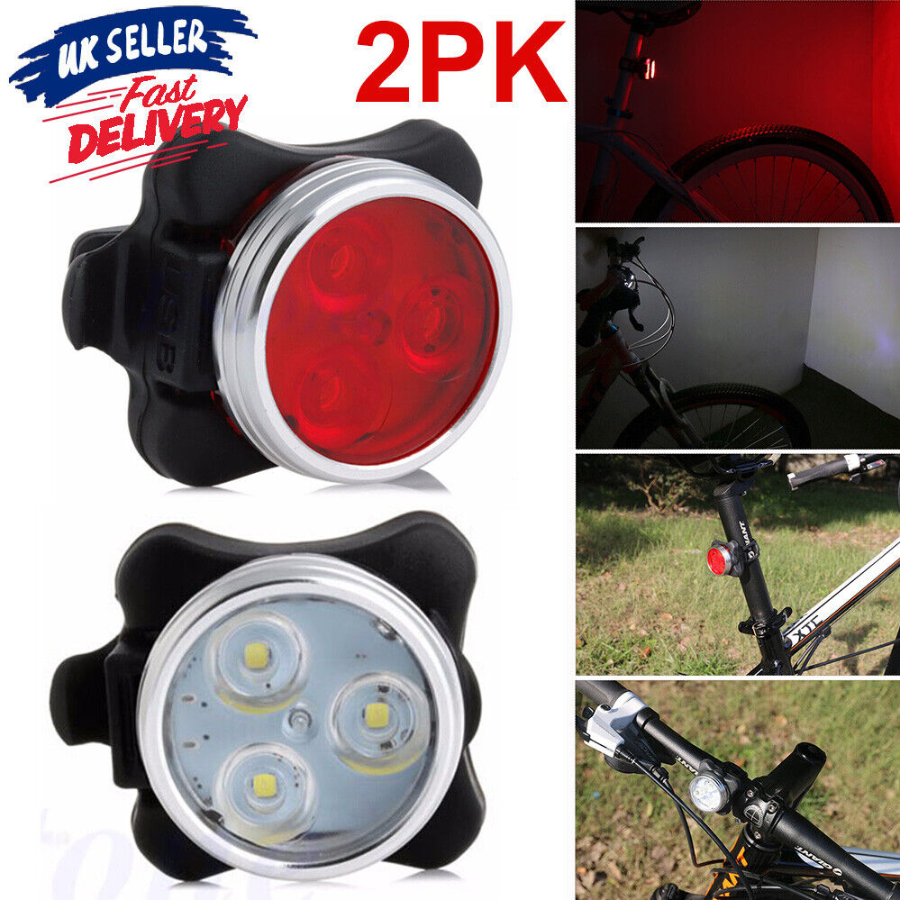 Rechargeable Bike Bicycle Tail Rear Light USB IPX4 Waterproof 5 Modes Bicycle