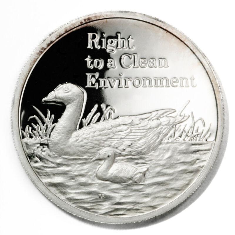 Zambia Clean Environment South African Shelducks 500 Kwacha 1994 Proof Silver Cr