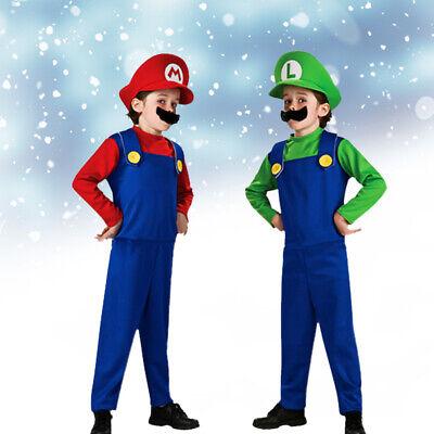 Super Mario Costumes Fancy Party Luigi Brothers Adult - Super Mario Hats