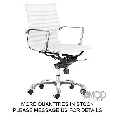 Modern Office Chair Executive Office Desk Task Computer Ergonomic Chair White