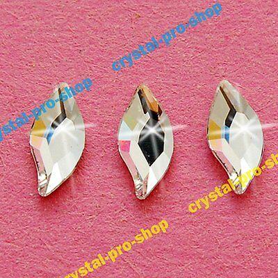 Genuine Swarovski 2797 Diamond Leaf Flat back (No Hotfix) Rhinestones marquise Hot Fix Diamond Leaf Crystal