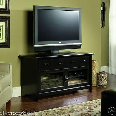 Black TV Stand Flat Screen 44 Inch Television Entertainment Center NEW dlp 52 30 Dlp Flat Screen Tv