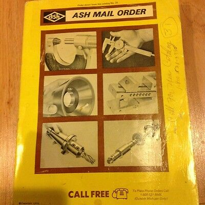 1979 ASH WEST DIRECT MAIL ORDER CATALOG NO. 31 MACHINE TOOLS ~ SHOP AIDES ++