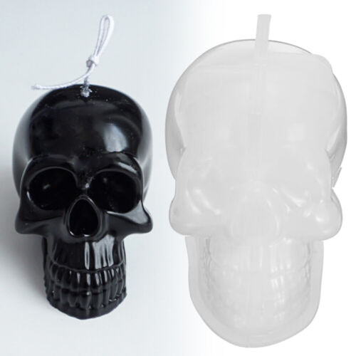 Template Craft Tool Moulds Candle Making Mold DIY Wax Form Silicone Skull Shape