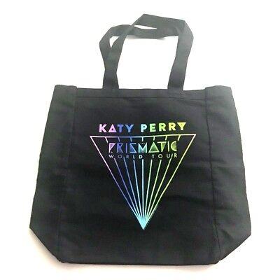 Katy Perry Prismatic World Tour Tote Shoulder Canvas Shopping Bag Black  comprar usado  Enviando para Brazil