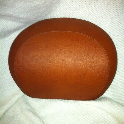 Vespa GT GTS BACKREST for Top Case Pad Brown Textured Leather NEW
